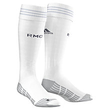 Buy Adidas 2015/16 Real Madrid Home Football Socks, White/Clear Grey Online at johnlewis.com