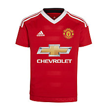 Buy Adidas 2015/16 Manchester United Boys' Home Shirt, Red Online at johnlewis.com