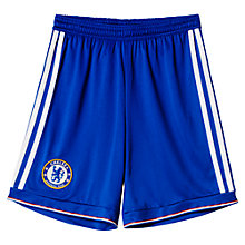 Buy Adidas Children's Chelsea F.C. Home Shorts, Blue Online at johnlewis.com