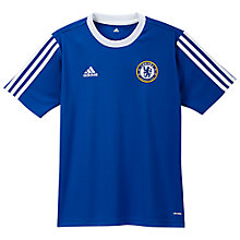 Buy Adidas Chelsea Home Jersey Boys' Top, Bold Blue/White Online at johnlewis.com