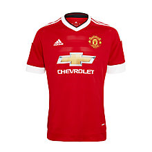 Buy Adidas Manchester United F.C. 2015/16 Home Football Shirt, Red Online at johnlewis.com