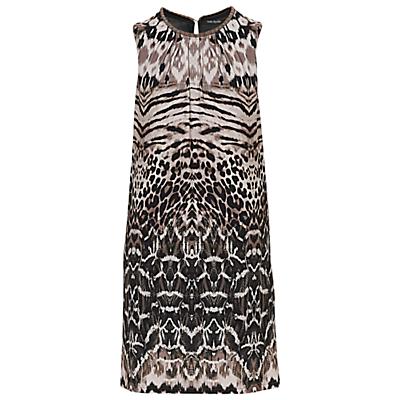 Betty Barclay Animal Print Dress, Khaki/Beige