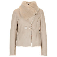 Buy Betty Barclay Faux Shearling Jacket, Dove Online at johnlewis.com