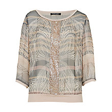 Buy Betty Barclay Printed Chiffon Blouse, Grey/Rose Online at johnlewis.com
