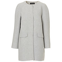 Buy Betty Barclay Collarless Coat, Light Grey Melange Online at johnlewis.com