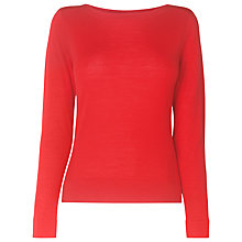 Buy L.K. Bennett Hebe Wool Jumper, Cardinal Online at johnlewis.com