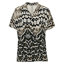 Buy Betty Barclay Snake Print Blouse, Khaki/Beige Online at johnlewis.com