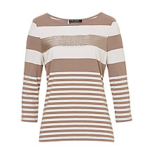 Buy Betty Barclay Striped Top, Taupe / Cream Online at johnlewis.com
