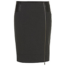 Buy Betty Barclay Pencil Skirt with Zip, Anthracite Melagne Online at johnlewis.com