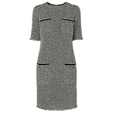 Buy L.K. Bennett Darya Tweed Dress, Black / Cream Online at johnlewis.com