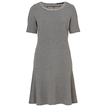 Buy Betty Barclay Short A-Line Jersey Dress, Middle Grey Melange Online at johnlewis.com