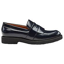 Buy Whistles Kalo Shiny Leather Loafers, Navy Online at johnlewis.com