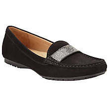 Buy John Lewis Tuscany Nubuck Loafers, Black Online at johnlewis.com