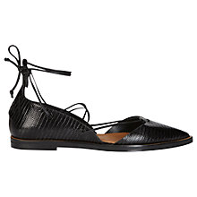 Buy Whistles Sida Leather Lace Up Pointed Shoes Online at johnlewis.com