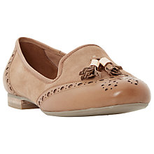 Buy Dune Loki Flat Tasseled Loafers, Tan Suede Online at johnlewis.com