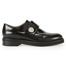 Buy Whistles Annato Flat Monk Shoe, Black Leather Online at johnlewis.com