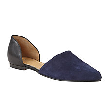 Buy Kin by John Lewis Hanna Flat Asymmetric Pumps, Navy Online at johnlewis.com
