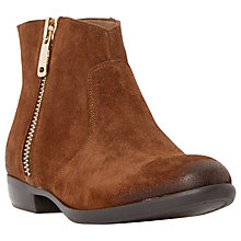 Buy Dune Popple Suede Ankle Boots, Tan Online at johnlewis.com