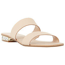 Buy Dune Nesha Leather Double Strap Sandals Online at johnlewis.com