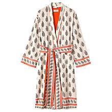 Buy Toast Paisley Border Robe, Ivory Online at johnlewis.com