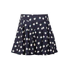 Buy John Lewis Girls' Flower Print Skort, Navy Online at johnlewis.com