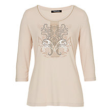 Buy Betty Barclay 3/4 Sleeve T-Shirt, Beige Online at johnlewis.com