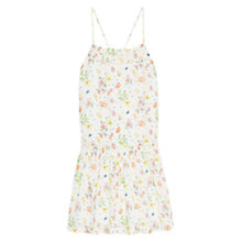 Buy Mango Flowy Print Dress, Light Beige Online at johnlewis.com