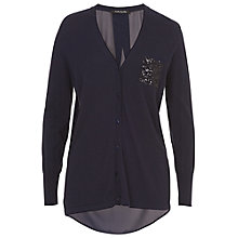 Buy Betty Barclay Contrast Panel Cardigan, Deep Navy Online at johnlewis.com