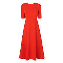 Buy L.K. Bennett Cayla Long Dress, Cardinal Online at johnlewis.com