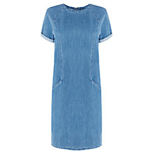 Buy Warehouse Denim Shift Dress, Light Wash Online at johnlewis.com