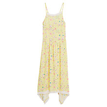 Buy Mango Flowy Print Dress, Yellow Online at johnlewis.com