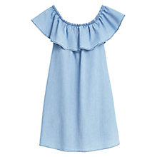 Buy Mango Ruffled Dress, Pastel Blue Online at johnlewis.com
