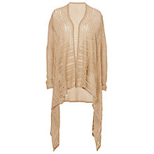 Buy Betty Barclay Lacy Blanket Cardigan, Dark Sand Online at johnlewis.com