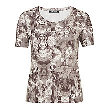 Buy Betty Barclay Rose Print T-Shirt, Taupe / Beige Online at johnlewis.com