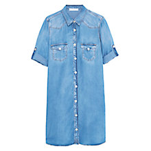 Buy Mango Soft Denim Dress, Open Blue Online at johnlewis.com