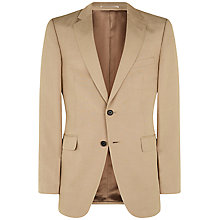 Buy Jaeger Silk Linen Classic Suit Jacket, Oatmeal Online at johnlewis.com