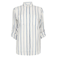 Buy Warehouse Stripe Lightweight Shirt, Blue Stripe Online at johnlewis.com