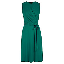 Buy Warehouse Wrap Detail Dress, Dark Green Online at johnlewis.com
