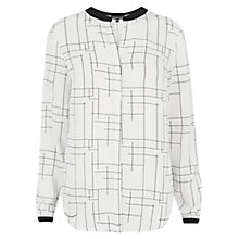 Buy Warehouse Check Print Blouse, Multi Online at johnlewis.com