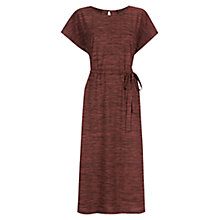 Buy Warehouse Space Dye Belted Dress, Dark Red Online at johnlewis.com