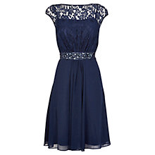 Buy Coast Lori Lee Lace Short Dress, Navy Online at johnlewis.com