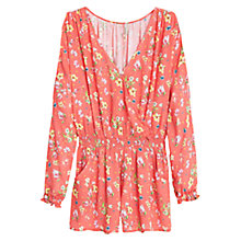 Buy Mango Floral Print Playsuit, Bright Red Online at johnlewis.com