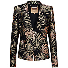 Buy Ted Baker Zakia Palm Jacquard Suit Jacket, Black Online at johnlewis.com