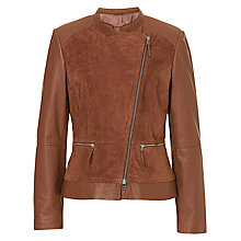 Buy Betty Barclay Leather Jacket, Classic Nougat Online at johnlewis.com