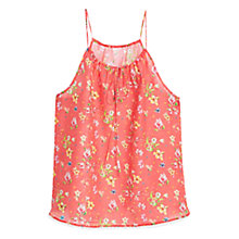 Buy Mango Floral Print Top, Bright Red Online at johnlewis.com