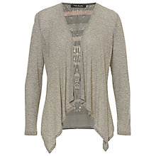 Buy Betty Barclay Printed Back Cardigan, Grey Online at johnlewis.com