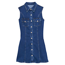 Buy Mango Pocket Detail Denim Dress, Blue Online at johnlewis.com