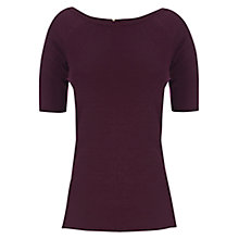 Buy Warehouse Compact Bardot Jumper, Dark Red Online at johnlewis.com
