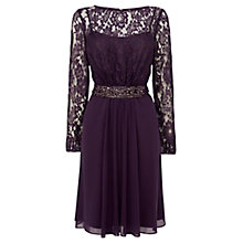 Buy Coast Lori Lee Sleeved Dress, Grape Online at johnlewis.com