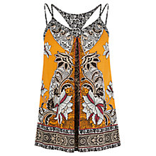Buy Warehouse Border Floral Cami, Orange Online at johnlewis.com